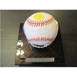 AUTOGRAPHED MLB BASEBALL - STEVE CARLTON HOF 94