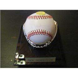 AUTOGRAPHED MLB BASEBALL - RICK HENDERSON