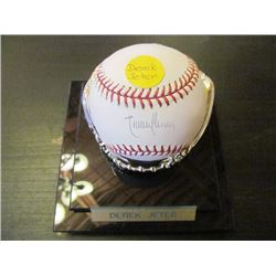 AUTOGRAPHED MLB BASEBALL - DEREK JETER