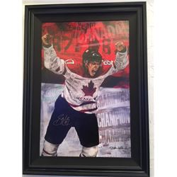 LIMITED EDITION STEPHEN HOLLAND PAINTING - SIGNED SIDNEY CROSBY TEAM CANADA