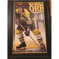 LIMITED EDITION STEPHEN HOLLAND PAINTING - SIGNED BOBBY ORR