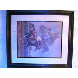 FRED STONE LIMITED PRINT - IN PURSUIT OF GREATNESS - MAN O WAR/SECRETARIAT/CIGAR