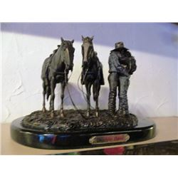 3 RODEO SCULPTURES - DOUBLE DATE, BLISS, SALUTE TO LARRY MAHAN