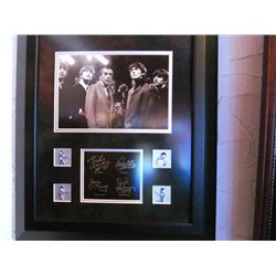 FRAMED BEATLES PICTURE WITH ED SULLIVAN