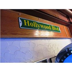 TIN STREET SIGNS - HOLLYWOOD BLVD, JIM MORRISON ROAD, BROADWAY(NYC), PEBBLE BEACH DRIVE, ROLLING STO