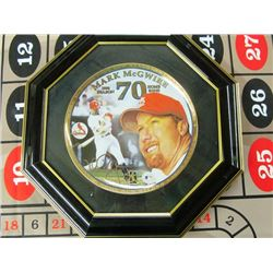 FRAMED COLLECTOR PLATE - MARK MCGWIRE LIMITED EDITION 70 HOMERUNS