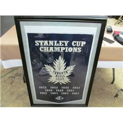 CHAMPIONSHIP LARGE FRAMED BANNER - TORONTO MAPLE LEAFS