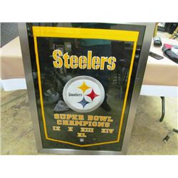 CHAMPIONSHIP LARGE FRAMED BANNER - PITTSBURGH STEELERS