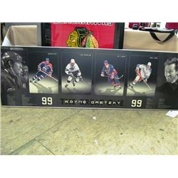 LARGE WAYNE GRETZKY FRAMED PRINT - STATS AND TEAMS