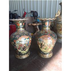 TWO LARGE MATCHING VASES
