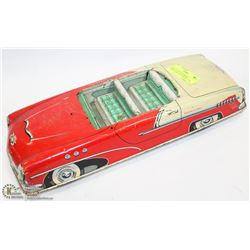 LARGE 1950s STUDEBAKER COMMANDER CONVERTIBLE TIN FRICTION TOY