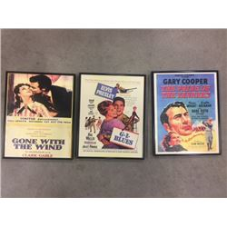 VINTAGE MOVIE FRAMED POSTERS