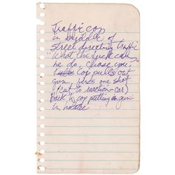 Prince Handwritten Notes