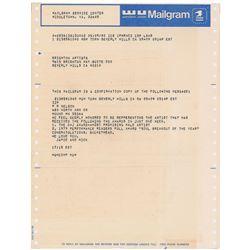 Prince 1980 Mailgram Letter
