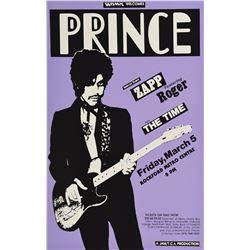 Prince 1982 Rockford Concert Poster