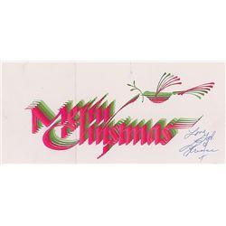 Prince Signed Christmas Card
