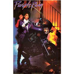 Prince Signed Purple Rain Promo Poster