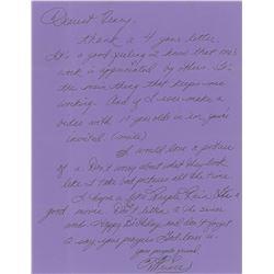 Prince Signed Handwritten Letter