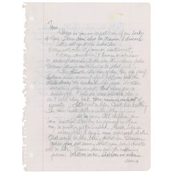 Prince Autograph Letter Signed to Tom Moon