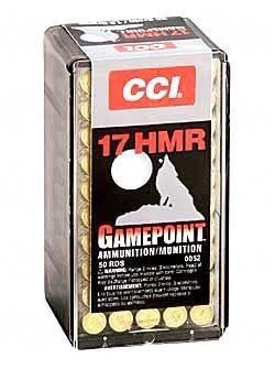 Cci 17hmr 20gr Game Pnt 500 Rounds