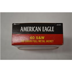 50 ROUNDS AMERICAN EAGLE 40 S& W 180 GRAIN FMJ