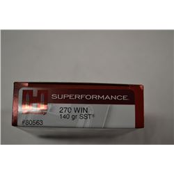 20 ROUNDS HORNADY SUPERFORMANCE 270 WIN 270 GRAIN SST