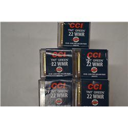 250 ROUNDS CCI TNT GREEN 22 WMR 30 GRAIN