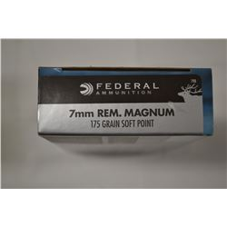 20 ROUNDS FEDERAL 7MM REM MAG 175 GRAIN