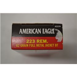 20 ROUNDS AMERICAN EAGLE 223 REM 62 GRAIN