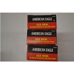 60 ROUNDS AMERICAN EAGLE 223 REM 50 GRAIN JHP