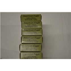 120 ROUNDS AMERICAN EAGLE 5.56 X 45 62 GR FMJ