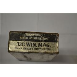 20 ROUNDS BROWNING 338 WIN MAG 200 GRAIN SP