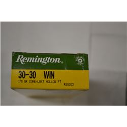 20 ROUNDS REMINGTON 30-30 WIN 170 GRAIN