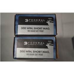 40 ROUNDS FEDERAL 300WIN SHORT MAG 180 GRAIN SP