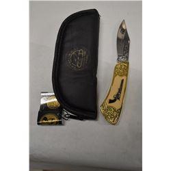FRANKLIN MINT COLLECTOR COLT 1851 NAVY REVOLVER KNIFE