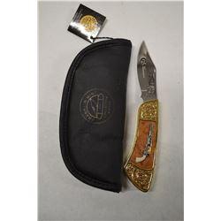 FRANKLIN MINT COLLECTOR COLT 1847 WALKER PISTOL KNIFE