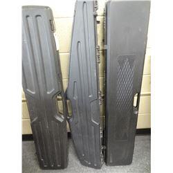 3 PLASTIC LONG GUN CASES