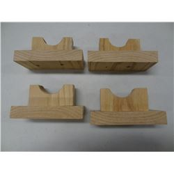 4 WOOD RIFLE STANDS