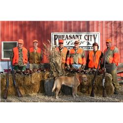2 Man, 2/Day, 3/Night EXPRESS package pheasant hunt in South Dakota with Pheasant City Lodge.