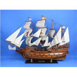 "Wooden Spanish Galleon Model 34"" Ship"