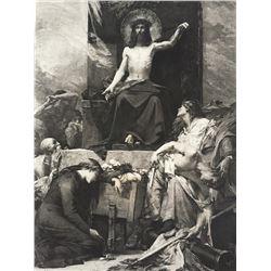 1880's Photogravure Print, Christ's Invitation