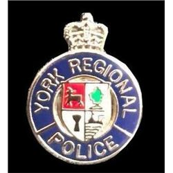 Canadian York Regional Police Badge Pin