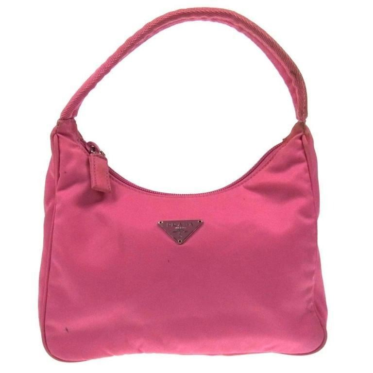 6ab0d54509df Image 1 : Authentic PRADA Pink Nylon Hand Bag ...