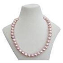 """18"""" Natural Pink / Purple 10-11mm South Sea Pearl 14kt"""