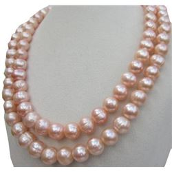 """35"""" Natural Pink South Sea Pearl 14kt Gold Necklace"""