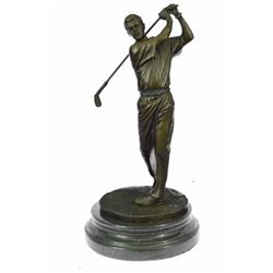 13  Tall Bronze Statue Vintage Golfer Golfing Trophy Bobby Jones Sculpture