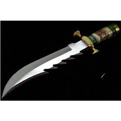 16'' D2 Tool Steel Custom Made Hunting Big Bowie Knife