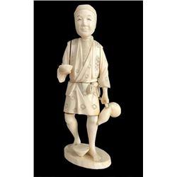 19thc Japanese Meiji Sectional Okimono