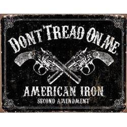 American Iron Metal Sign, Don't Tread On Me
