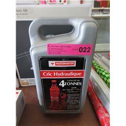 MotoMaster 4 Ton Hydraulic Bottle Jack